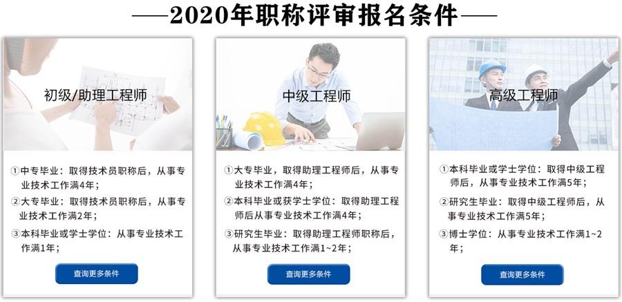 2020年广东工程师职称评审条件